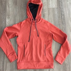 Arc'teryx Orange Drawstring Hoodie Women's XS